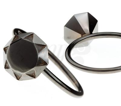 Bague Diamant Rhodiage Noir - Origami Jewellery