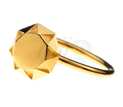 Bague Diamant Vermeil - Origami Jewellery