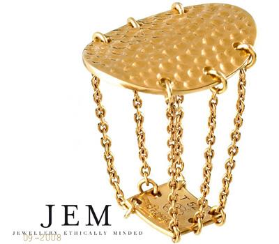 Bague joaillerie éthique en or de JEM