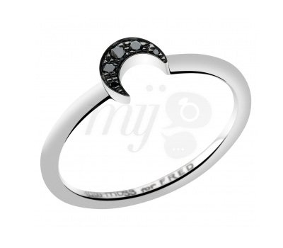 Bague Kate Moss for Fred Lune - Diamants Noirs Argent