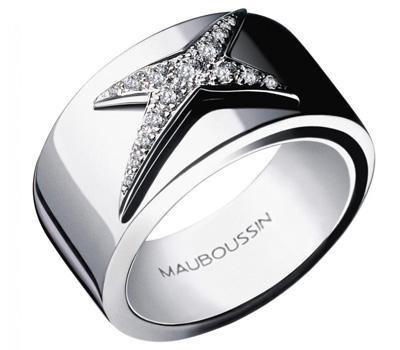 Bague or blanc et diamants de Mauboussin