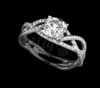 Bague de Fiançailles Ruban Diamants - Lorenz Bäumer