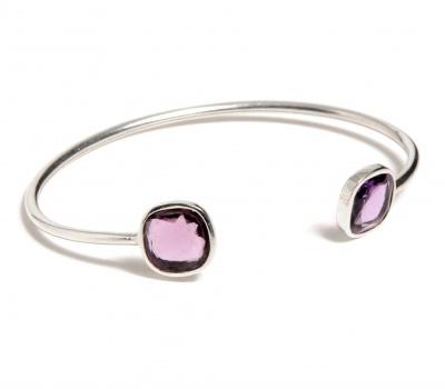 Bijou bracelet en argent avec pierres fines