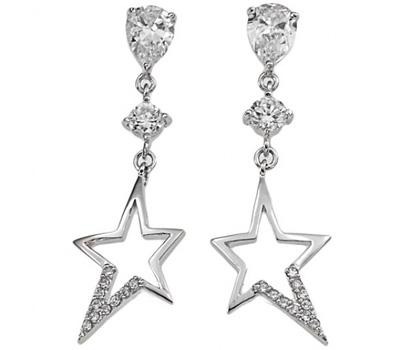 Boucles d'oreilles en argent étoiles