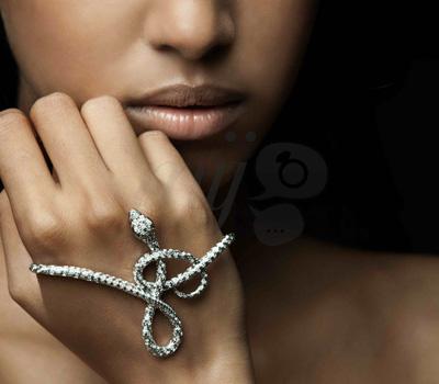 Bracelet de Main Serpent Diamants - Prive Jewellery