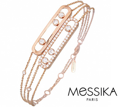 Bracelet en or rose Move Duetto de Messika