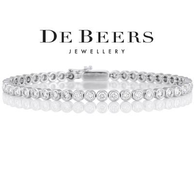 Bracelet en platine et diamants de De Beers