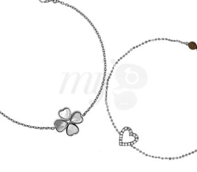Bracelet Coeur et Trèfle Saint Valentin - Ocarat