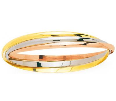 Bracelet trois ors pour femme pas cher