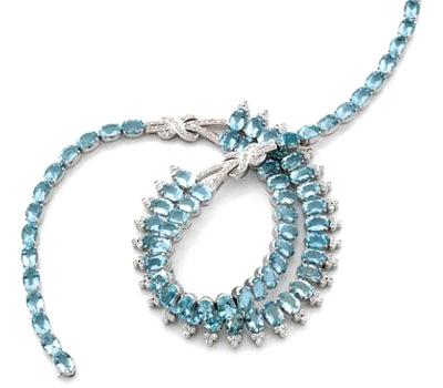 O acheter un collier avec des aigues marines en ligne for Ou acheter des galets blancs