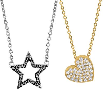 Collier étoile et coeur en or de Vanessa Tugendhaft