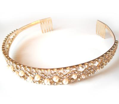 Diadème de mariage avec cristaux de Swarovski