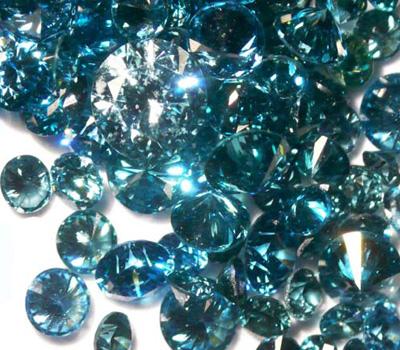 Diamants bleu océan naturels