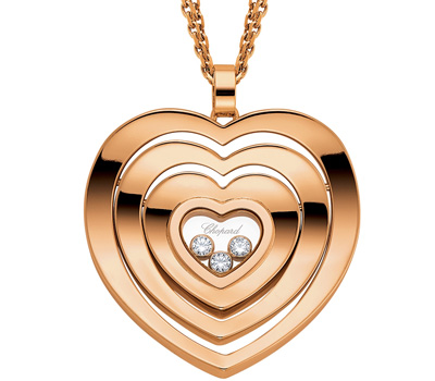 Pendentif coeur en or et diamants de Chopard