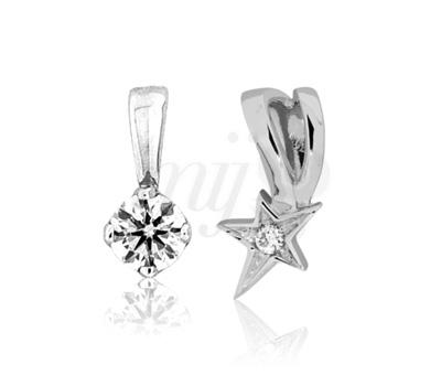 Pendentif Diamant et Étoile Saint Valentin - Ocarat