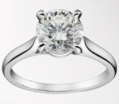 Solitaire diamant en or blanc 1895 de Cartier