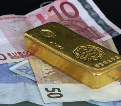 Valeur lingot d'or en euros
