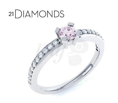 Bague Quartz Rose - 21diamonds