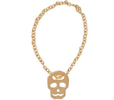 Bague chainette tête de mort en or rose de Vanrycke