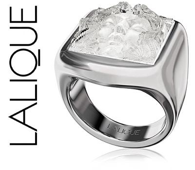 Bague Lalique Aréthuse en argent et cristal