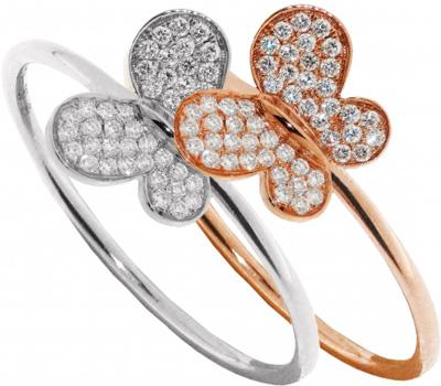 Bague papillon en or et diamants de Morganne Bello