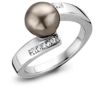 Bague perle en argent de Orphelia Silver Collection