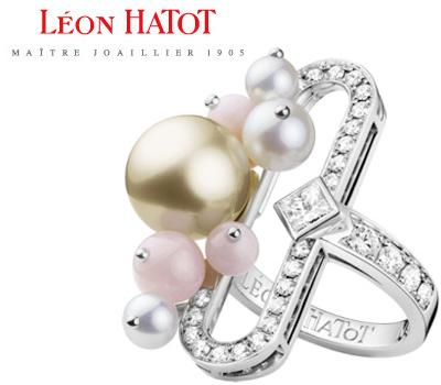 Bague perle et diamants du joaillier Léon Hatot
