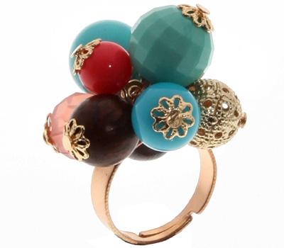 Bague en perles multicolores pour femmes