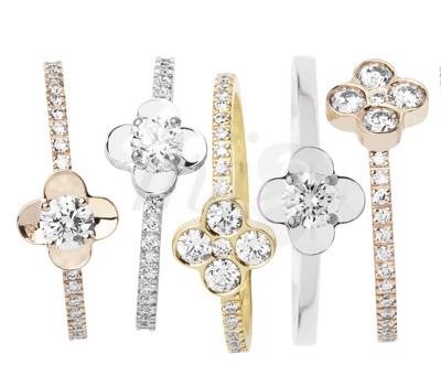 Bagues Fleuri Diamants - IO & ES