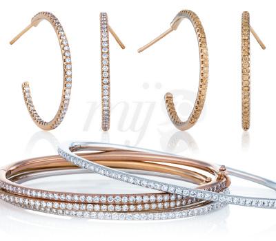 Bijoux Lignes de Couleurs et Diamants - De Beers