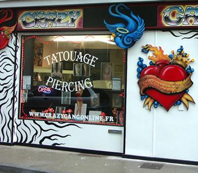 Boutique de tatouage et piercing