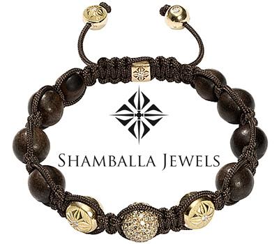 Bracelet avec des boules en bois de Shamballa Jewels