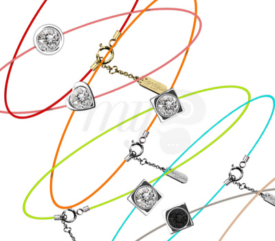 Bracelet Fils et Diamants de Couleurs - Transludia