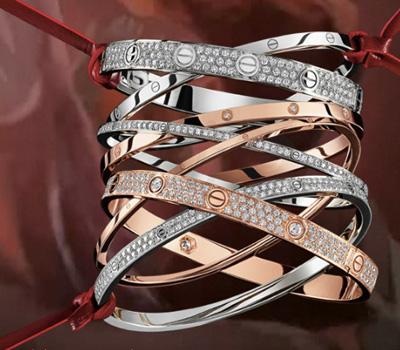 Bracelet Love Manchette Diamants - Cartier Joaillerie