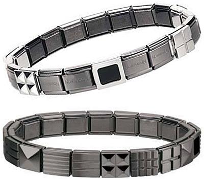 Bracelet Nomination en noir pour homme