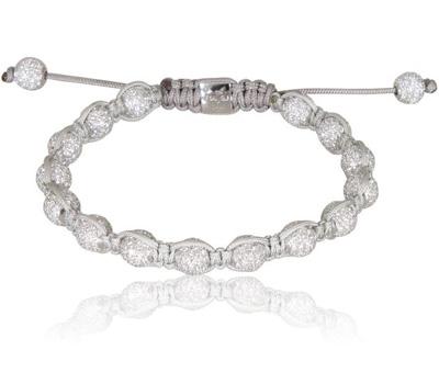 Bracelet Shamballa en diamants et or blanc