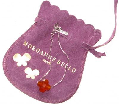 Bracelet trèfle cornaline d'occasion de Morganne Bello