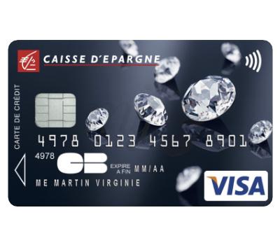 Carte Bancaire Visa Swarovski Elements- Caisse d'Épargne