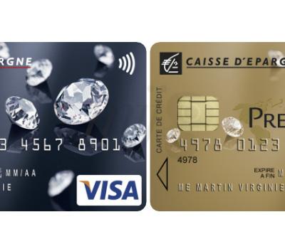 Cartes Bancaires Swarovski Elements- Caisse d'Épargne