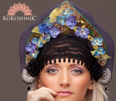 Coiffe Bijou de Russie - Kokoshnik Monika Ganéa