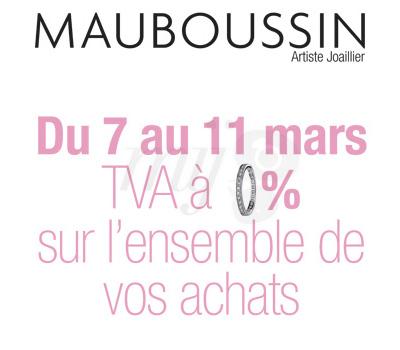 Offre TVA Mauboussin Joaillerie