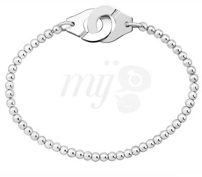 Bracelet Perles d'Argent Menottes - Dinh Van
