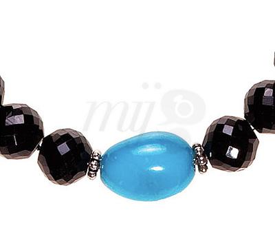 Boules Spinelle et Turquoise - Bracelet Omar Sy