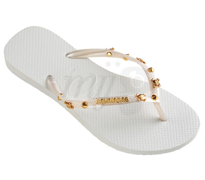 Tongs Blanches Slim Hardware Bijoux - Havaianas