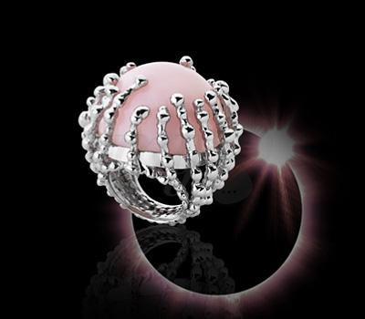 Bague Boules d'Amour Opale Rose - Garnazelle