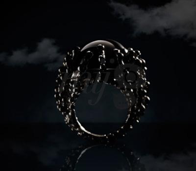 Bague Boules d'Amour Onyx - Garnazelle Joaillerie