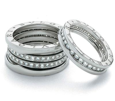 Bague Bulgari B Zero en or blanc et diamants