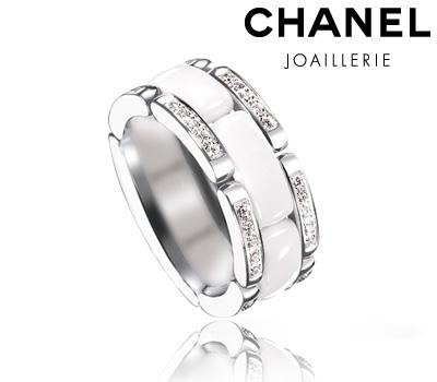 Bague Chanel céramique blanche