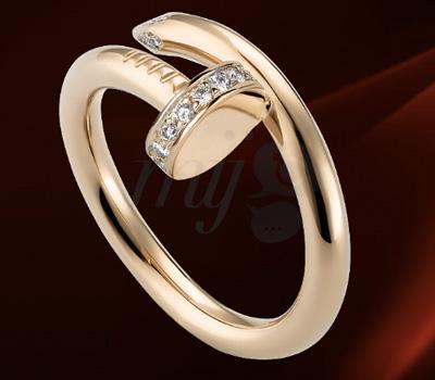 Bague Clou Diamants Or Rose - Cartier