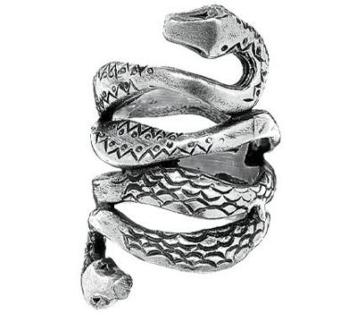 Bague en serpent homme